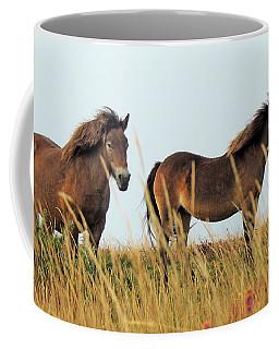 Coffee Mug featuring the photograph Wild Ponies On Exmoor by Jayne Wilson