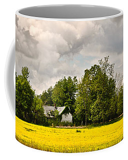 Coffee Mug featuring the photograph Wildflower Field Farmhouse 2 by Greg Jackson