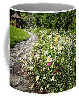 Wildflower Garden And Path To Gazebo Coffee Mug by Elena Elisseeva