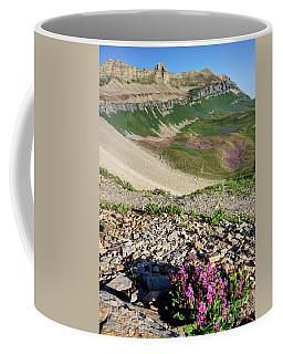 Wildflowers Above Timpanogos Basin At Sunrise Coffee Mug