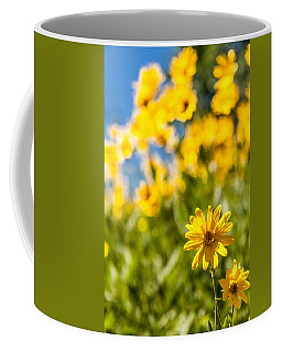Wildflowers Standing Out Abstract Coffee Mug