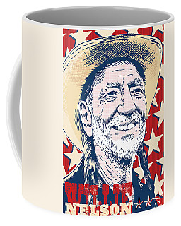 Willie Nelson Pop Art Coffee Mug by Jim Zahniser