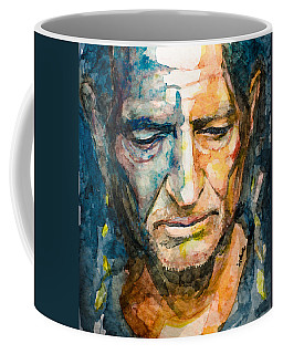 Coffee Mug featuring the painting Willie Nelson  by Laur Iduc
