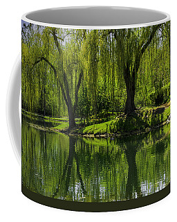 Willows Weep Into Their Reflection  Coffee Mug