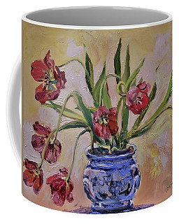 Wilting Tulips Coffee Mug by Donna Tuten