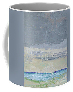 Wind And Rain On The Bay Coffee Mug by Gail Kent