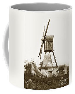 Coffee Mug featuring the photograph Wind Mill In France 1900 Historical Photo by California Views Mr Pat Hathaway Archives