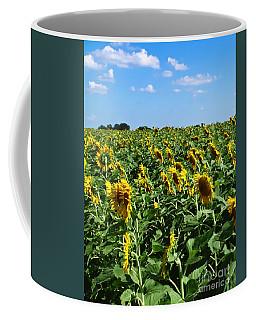 Windblown Sunflowers Coffee Mug