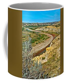 Winding Little Missouri River In Theodore Roosevelt National Park-north Dakota   Coffee Mug