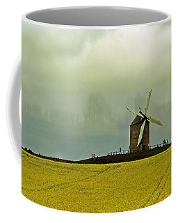 Windmill And Rapeseed And Storm Coffee Mug