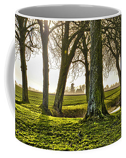 Windmill And Trees In Groningen Coffee Mug