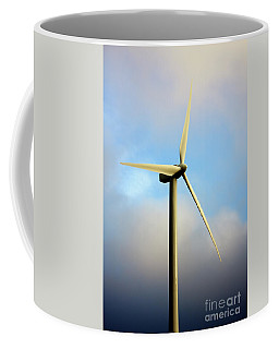 Windmill Dark Blue Sky Coffee Mug