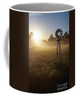 Windmill In The Fog Coffee Mug