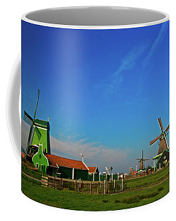 Windmills At Zaanse Schans Coffee Mug by Jonah  Anderson