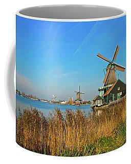Coffee Mug featuring the photograph Windmills On De Zaan by Jonah  Anderson