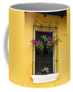 Window At Old Antigua Guatemala Coffee Mug by Kurt Van Wagner