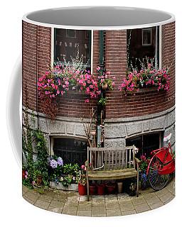 Window Box Bicycle And Bench  -- Amsterdam Coffee Mug