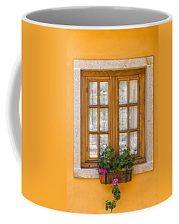 Window With Flowers Coffee Mug