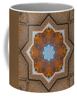 Coffee Mug featuring the photograph Windows To Autumn Mandala 5 by Beth Sawickie