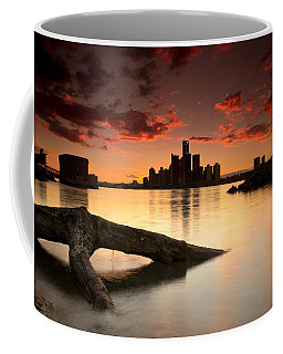 Windsor And Detroit Sunset Coffee Mug