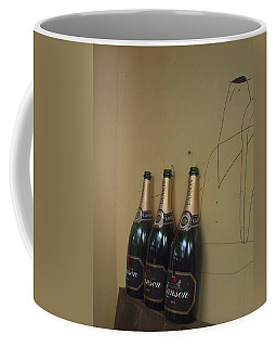 Coffee Mug featuring the photograph Wine And A Man by Rachel Mirror