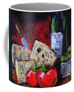 Wine And Cheeses Coffee Mug by Carole Foret