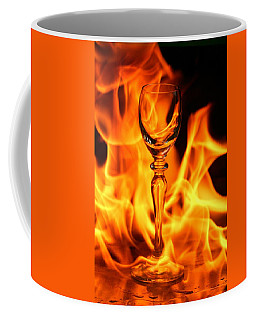 Wine Glass On Fire Coffee Mug
