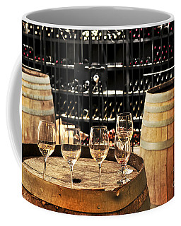 Wine Glasses And Barrels Coffee Mug