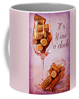 Wine Time Coffee Mug by Clare Bevan