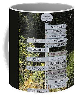 Winery Street Sign In The Sonoma California Wine Country 5d24601 Square Coffee Mug