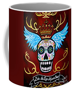 Coffee Mug featuring the painting Winged Muertos by Pristine Cartera Turkus