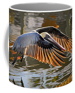 Wings Of Gold Coffee Mug by Quinn Sedam