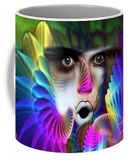 Coffee Mug featuring the painting Wings by Rafael Salazar