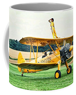 Coffee Mug featuring the photograph Wingwalking by Paul Gulliver