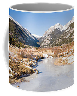 Winter At Horseshoe Park In Rocky Mountain National Park Coffee Mug