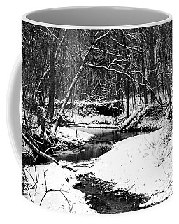 Winter At Pedelo Black And White Coffee Mug