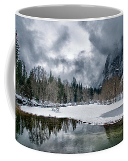 Winter At Swinging Bridge Coffee Mug