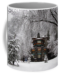 Winter At The Ahwahnee In Yosemite Coffee Mug by Carla Parris