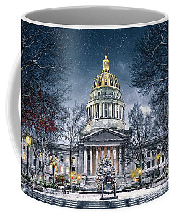 Winter At The Capitol Coffee Mug by Mary Almond