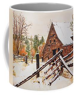 Winter - Barn - Snow In Nevada Coffee Mug