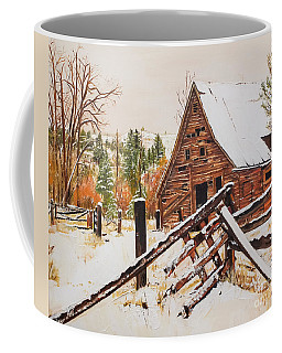 Winter - Barn - Snow In Nevada Coffee Mug