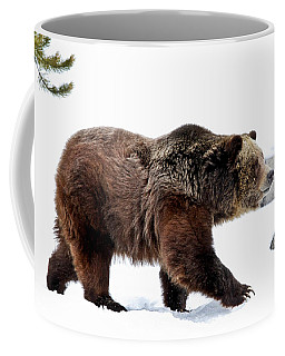 Winter Bear Walk Coffee Mug