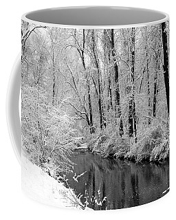 Coffee Mug featuring the photograph Winter By Crum Creek by Deborah  Crew-Johnson