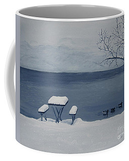 Winter By The Lake Coffee Mug