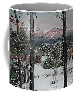 Winter - Cabin - Pink Knob Coffee Mug