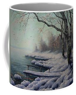 Winter Coming On The Riverside Coffee Mug
