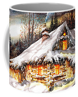 Winter Cottage Coffee Mug