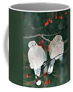 Winter Doves Coffee Mug by Betty LaRue