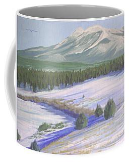 Winter Eagle At Mormon Lake Coffee Mug