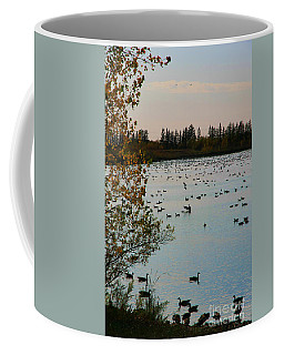 Coffee Mug featuring the photograph Winter Escape Gathering by Teresa Zieba